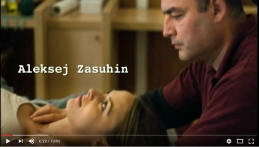 Standbild aus dem Video mit Aleksej Zasuhin