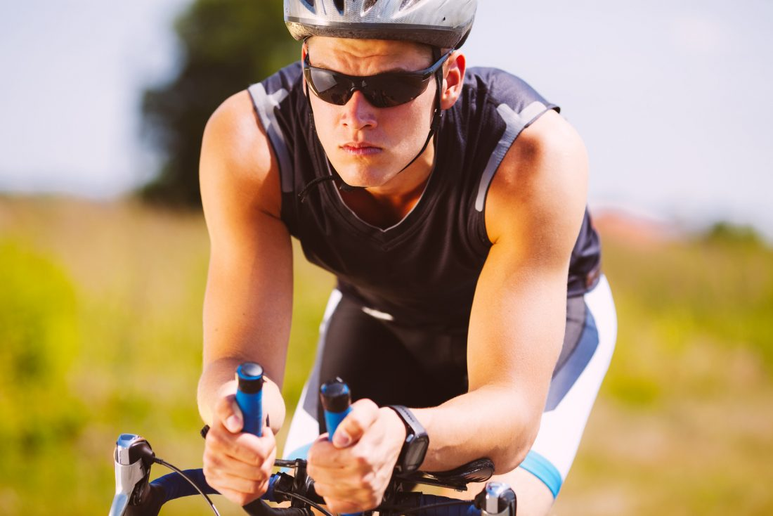 Radfahrer beim Training